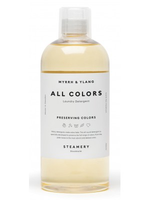 All Colors Laundry Detergent, Myrrh & Ylang-ylang, 750ml, Steamery